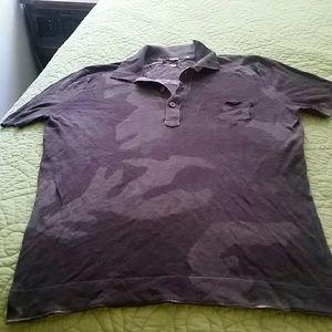 Dress army green & chocolates browntop